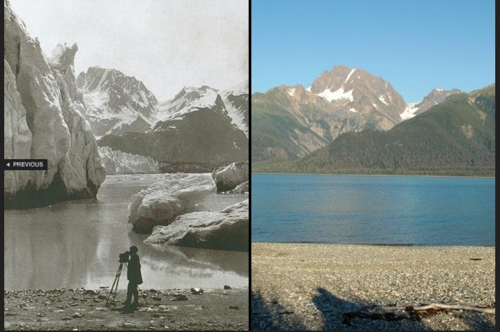 Muir glacier melt 1909-
