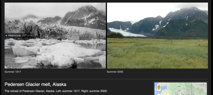 Pedersen Glacier melt 1917-2005