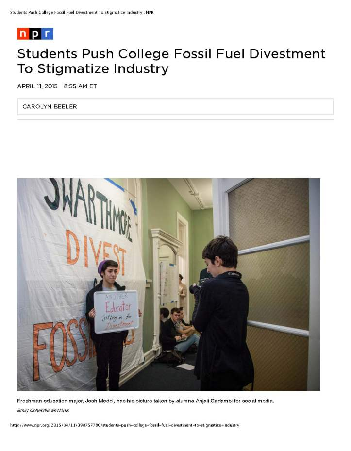 Students Push College Fossil Fuel Divestment To Stigmatize Industry - NPR_Page_1