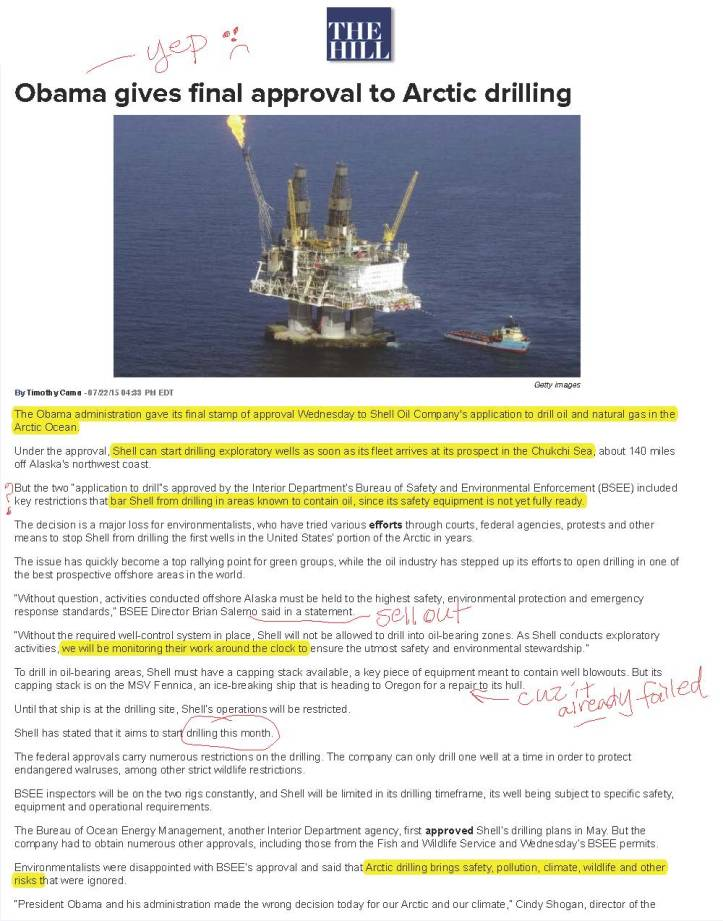 Obama gives final approval to Arctic drilling | TheHill_Page_1