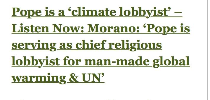 pope climate lobbyist
