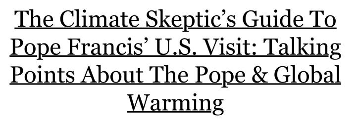 pope -preachy