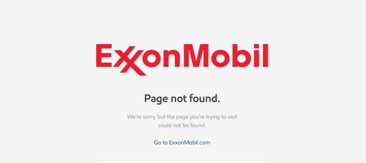 exxon not found