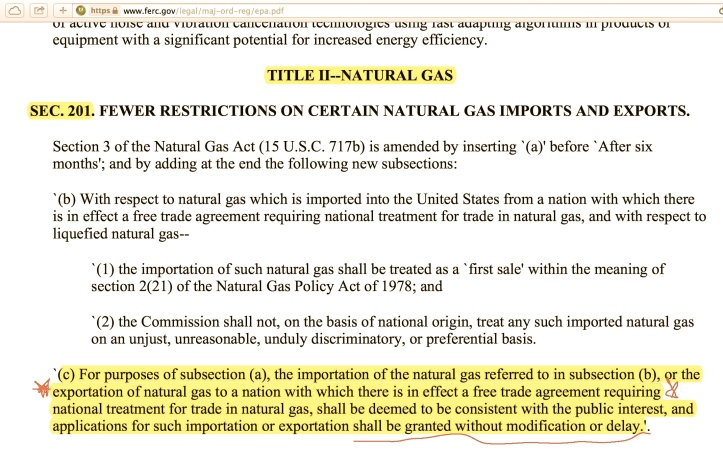 Natural Gas section