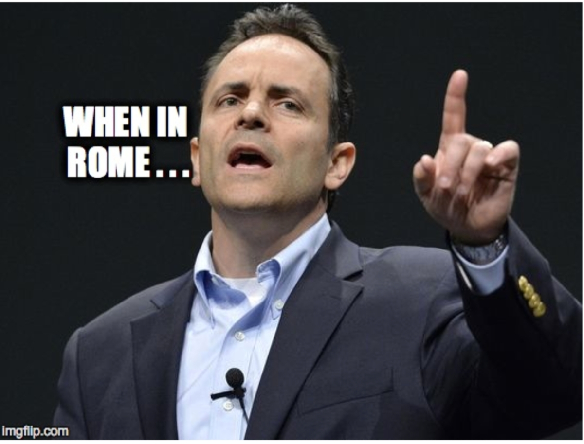 Welcome new Wall of Shame member (& worst father ever), KY Governor Matt Bevin