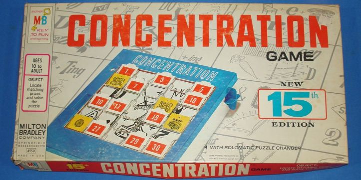 MILTON_BRADLEY_MB_CONCENTRATION_ROLOMATIC_PUZZLE_CHANGER_GAME_NEW_15TH_EDITION_4950_BOX_LID